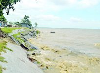 পটুয়াখালীতে তীব্র হচ্ছে নদীভাঙন